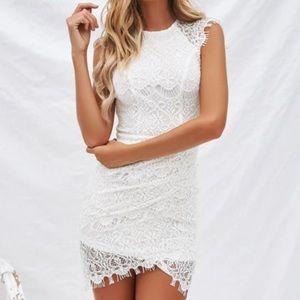 Xenia Boutique Lace White Jessica Dress